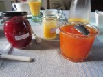 Homemade jams and local honey